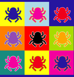Spider sign pop-art style vector