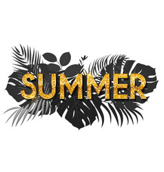 Summer word on natural background social media vector
