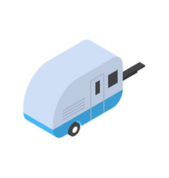 Trailer icon isometric isolated tourism and travel vector