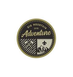traveling outdoor badge big mountain adventure vector image vector image