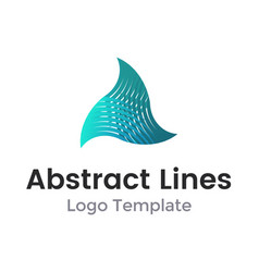twisted triangle from lines logo design vector image