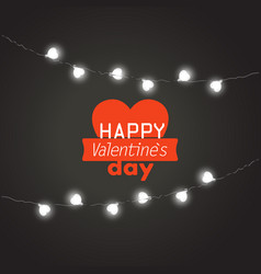 Valentines greeting card happy valentines day vector