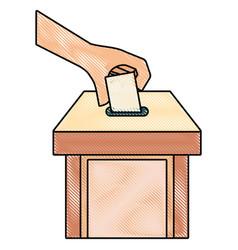 voting vector image