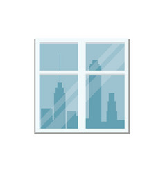 Window city town view vector