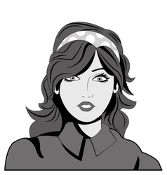 Woman comic face vector