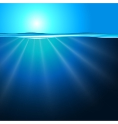 Sea background with sunbeam vector