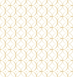 Geometric gold pattern background of circles vector