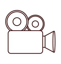 vintage camcorder film vector image