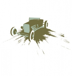 grunge hot rod vector image