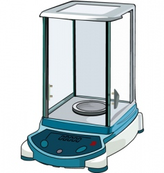 Weigh machine vector