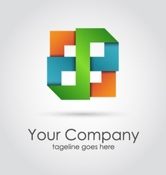 Abstract geometric company logo vector