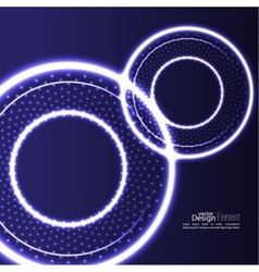 Abstract background with glowing circles vector