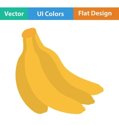 Flat design icon of banana vector