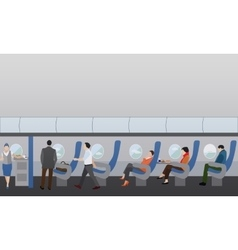 Airline travel passengers concept banner vector image