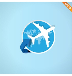 Airplane travel - - eps10 vector