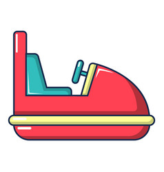 Amusement park bumper car icon cartoon style vector