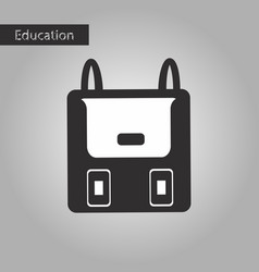 Black and white style icon backpack vector