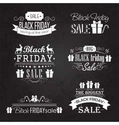 Black friday sale calligraphic designs set on vector