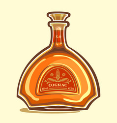 Bottle of cognac vector