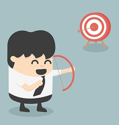 businessman archer vector image