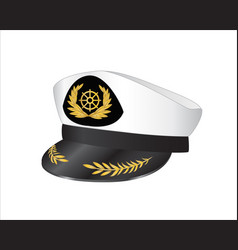 captains hat vector image