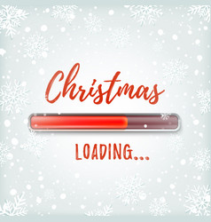 christmas loading greeting card design template vector image