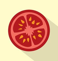 Flat Design Tomato Icon vector image vector image