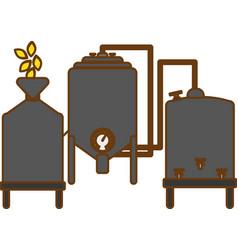 Gray beer tanks icon image design vector