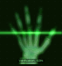 Green abstract hand tomography vector