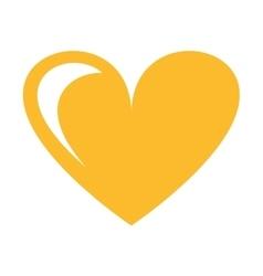 heart love silhouette icon vector image
