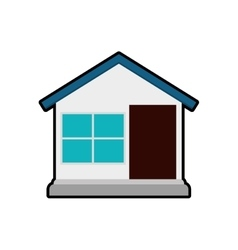 House home door window icon graphic vector