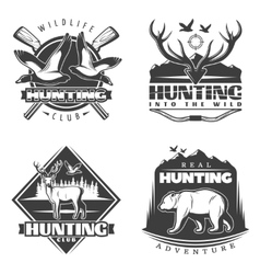 Into the wild emblem set vector
