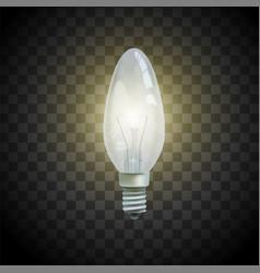 Light bulb on transparent background image vector