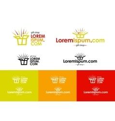 Logo of online gift shop vector image