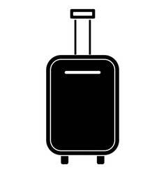Luggage bag black color icon vector