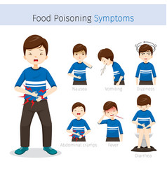 man with food poisoning symptoms vector image