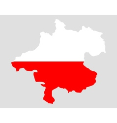 Map and flag of upper austria vector