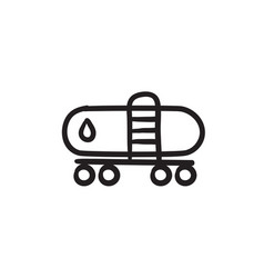 Oil tank sketch icon vector