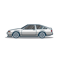old japan sport car vector image vector image