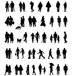 People which walk vector