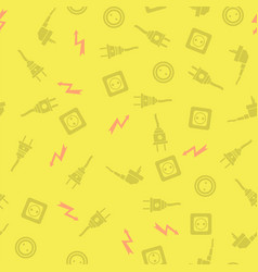 plugs seamless pattern vector image