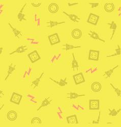 plugs seamless pattern vector image