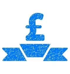 Pound business premium ribbon grainy texture icon vector