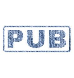 Pub textile stamp vector