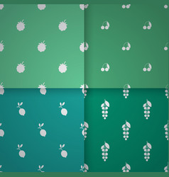 Seamless patterns with berries vector