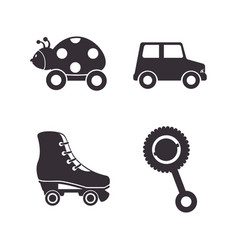 set kids toys icons vector image vector image