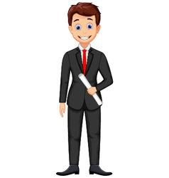Smiling business man cartoon vector