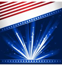 stylized USA flag vector image vector image