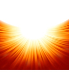 Sunburst rays of sunlight tenplate EPS 8 vector image vector image