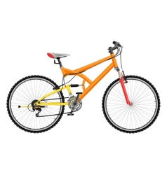 Two suspension mountain bike vector image vector image